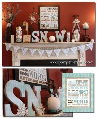 Fantastic Winter Mantle Decoration Ideas34