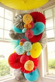 Gorgeous Fun Colorful Paper Decor Crafts Ideas23
