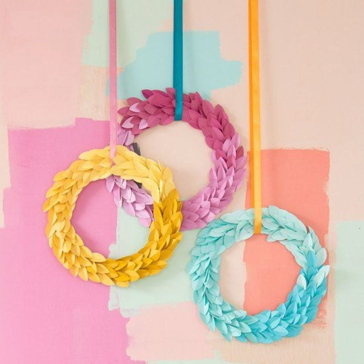 Gorgeous Fun Colorful Paper Decor Crafts Ideas30