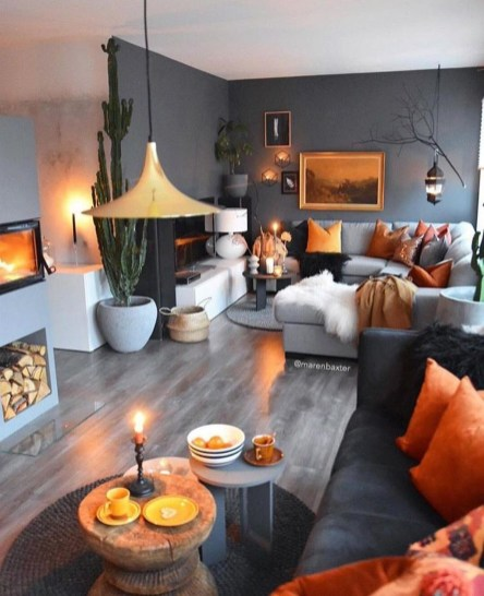 Inspiring Living Room Color Schemes Ideas Will Make Space Beautiful06