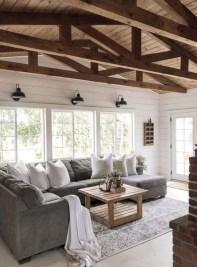 Modern Chic Farmhouse Living Room Design Decor Ideas Home05