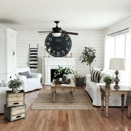 Modern Chic Farmhouse Living Room Design Decor Ideas Home16