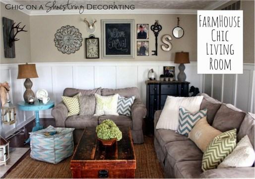 Modern Chic Farmhouse Living Room Design Decor Ideas Home28
