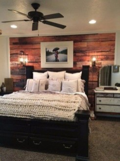 Romantic Rustic Farmhouse Bedroom Design And Decorations Ideas06
