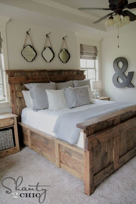 Romantic Rustic Farmhouse Bedroom Design And Decorations Ideas37