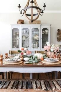 Stylish French Farmhouse Fall Table Design Ideas02