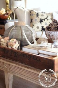 Stylish French Farmhouse Fall Table Design Ideas26