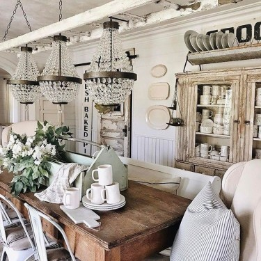 Stylish French Farmhouse Fall Table Design Ideas27