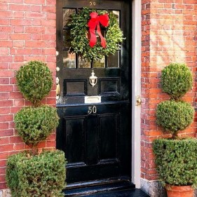 Brilliant Christmas Front Door Decor Ideas29