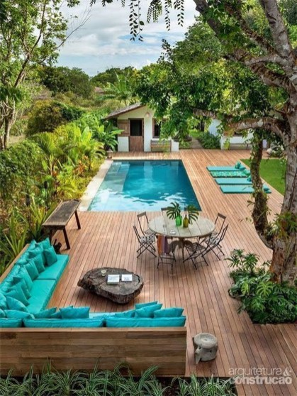 Cozy Swimming Pool Design Ideas For Your Home Backyard10
