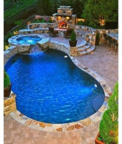 Cozy Swimming Pool Design Ideas For Your Home Backyard20