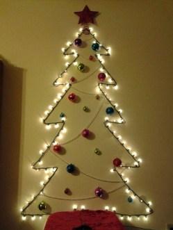 Diy Wall Christmas Tree Ideas35