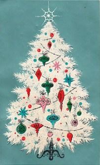Fascinating White Vintage Christmas Ideas19