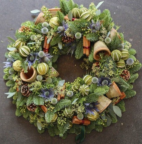 Inspiring Christmas Wreaths Ideas For All Types Of Décor02