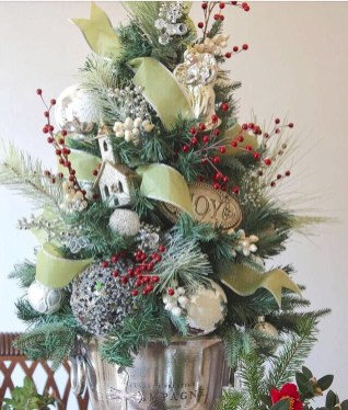 Minimalist Small Tree In A Bucket Ideas For Christmas15