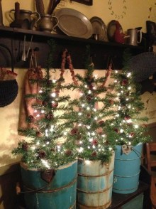 Minimalist Small Tree In A Bucket Ideas For Christmas21
