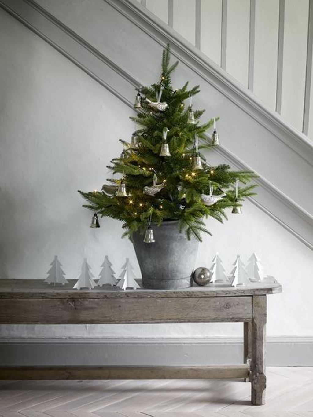 Minimalist Small Tree In A Bucket Ideas For Christmas40