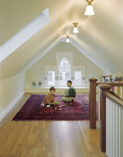 Modern Attic For Christmas13