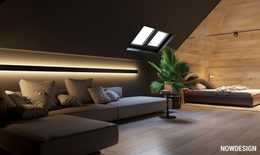 Modern Attic For Christmas23
