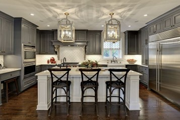 Modern Dark Grey Kitchen Design Ideas09