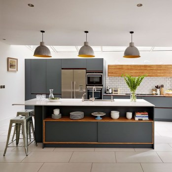 Modern Dark Grey Kitchen Design Ideas20