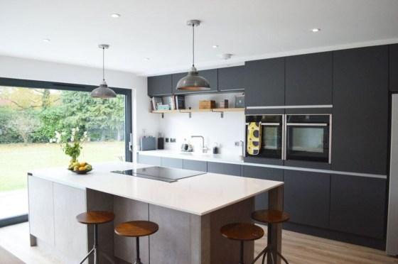 Modern Dark Grey Kitchen Design Ideas39