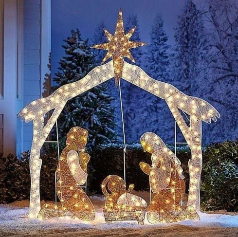 Outdoor Decoration For Christmas Ideas34