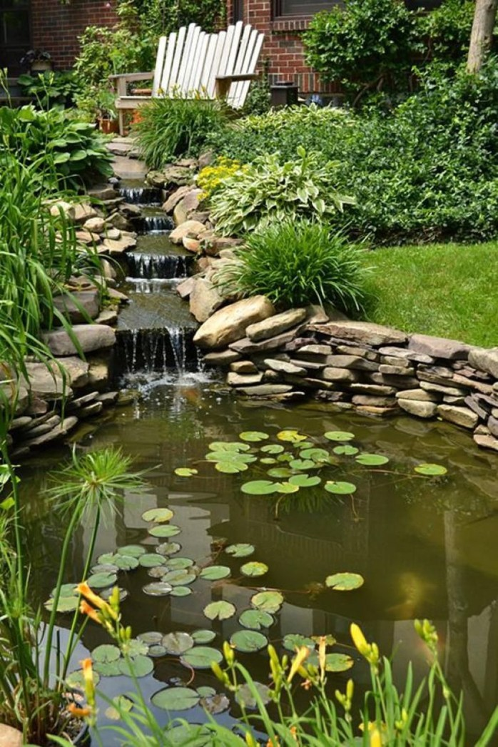 Popular Pond Garden Ideas For Beautiful Backyard06