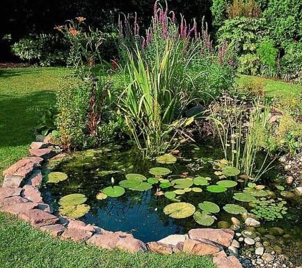 Popular Pond Garden Ideas For Beautiful Backyard08