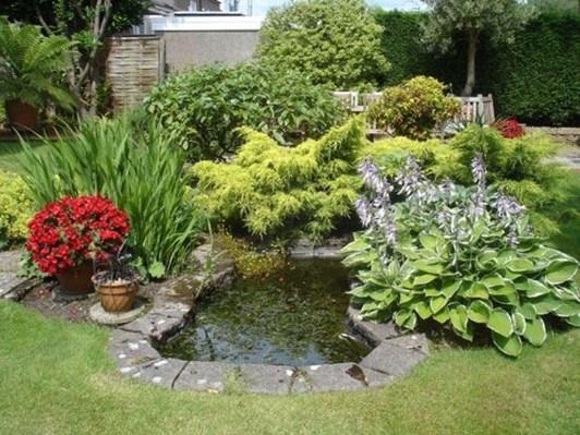 Popular Pond Garden Ideas For Beautiful Backyard25