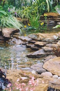 Popular Pond Garden Ideas For Beautiful Backyard26