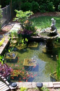 Popular Pond Garden Ideas For Beautiful Backyard27