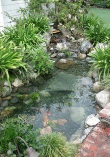 Popular Pond Garden Ideas For Beautiful Backyard29