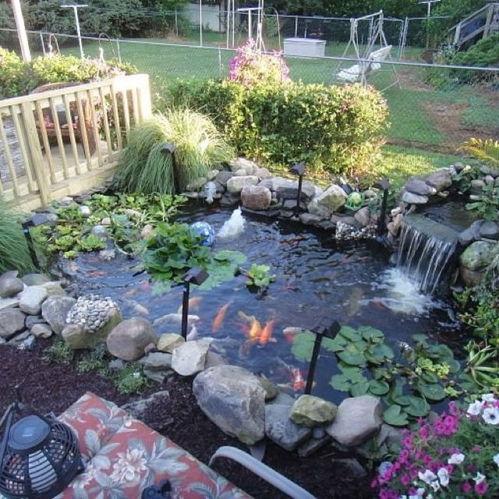 Popular Pond Garden Ideas For Beautiful Backyard37