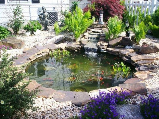 Popular Pond Garden Ideas For Beautiful Backyard43