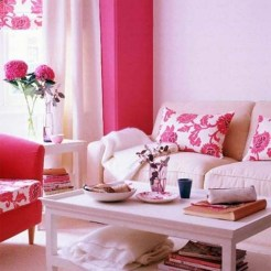 Amazing Red Apartment Living Room For Valentine10