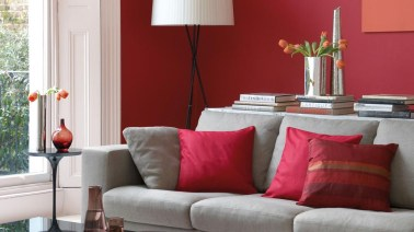 Amazing Red Apartment Living Room For Valentine21