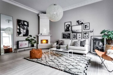 Amazing Scandinavian Livingroom Decorations Ideas33