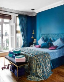 Elegant Blue Themed Bedroom Ideas30