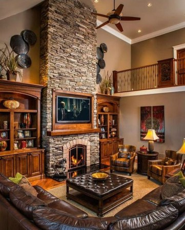 Lovely Fireplace Living Rooms Decorations Ideas07
