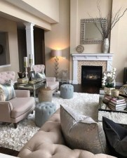 Lovely Fireplace Living Rooms Decorations Ideas13