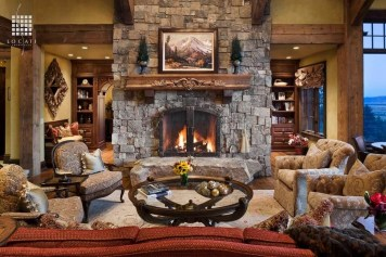 Lovely Fireplace Living Rooms Decorations Ideas17