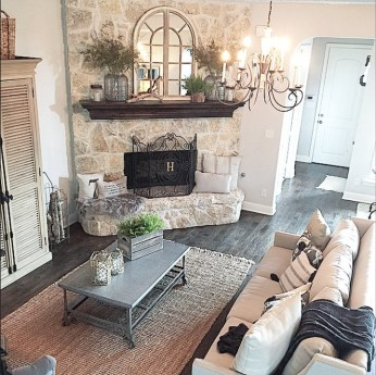 Lovely Fireplace Living Rooms Decorations Ideas21