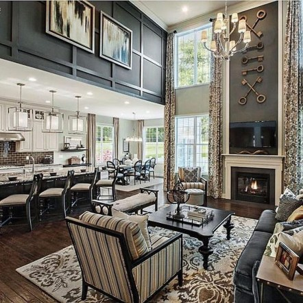 Lovely Fireplace Living Rooms Decorations Ideas32
