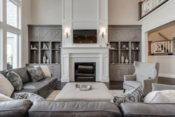 Lovely Fireplace Living Rooms Decorations Ideas33
