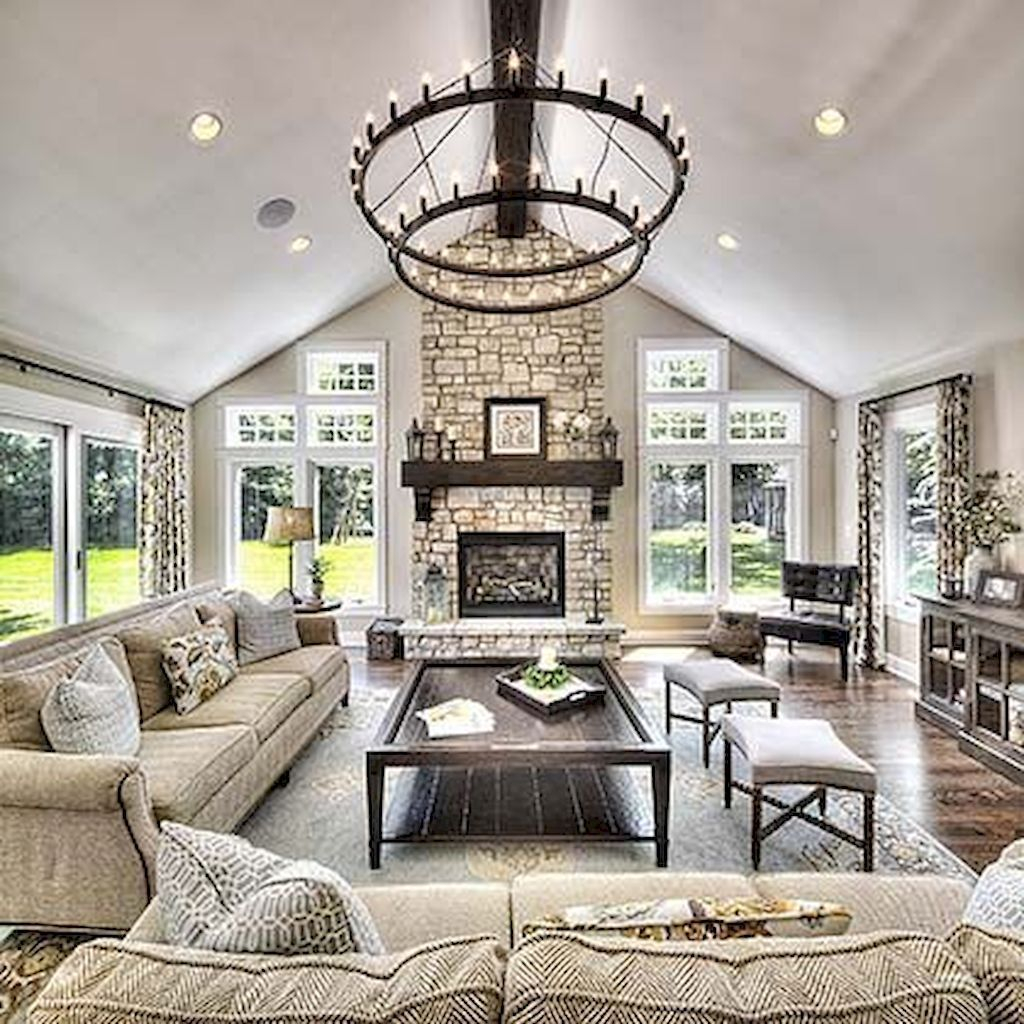 Lovely Fireplace Living Rooms Decorations Ideas39