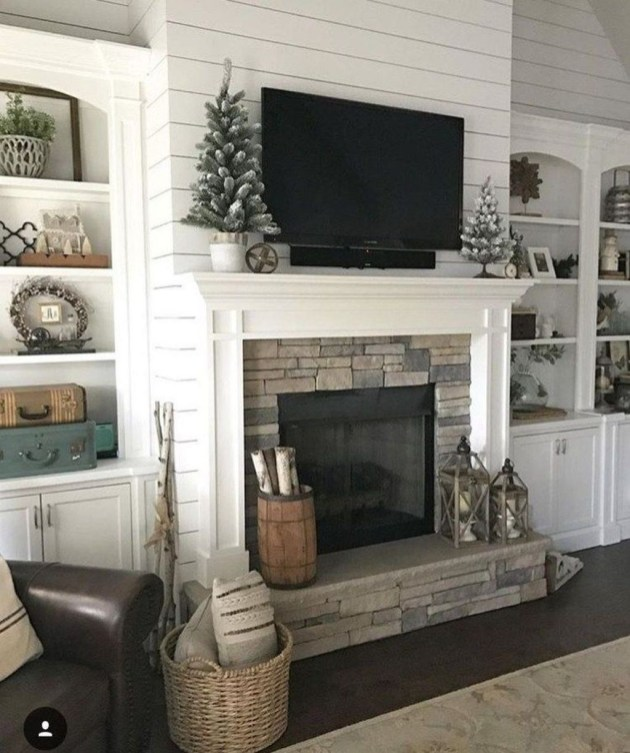 Lovely Fireplace Living Rooms Decorations Ideas42