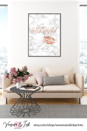 Lovely Roses Decor For Living Room01