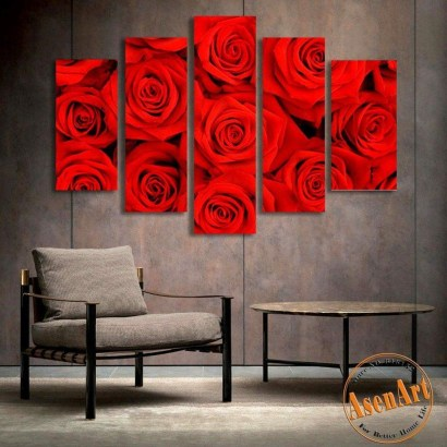 Lovely Roses Decor For Living Room06