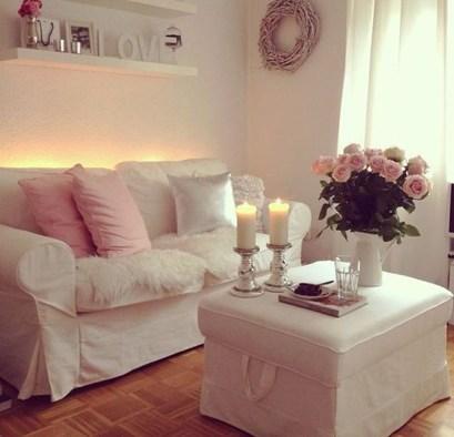 Lovely Roses Decor For Living Room32